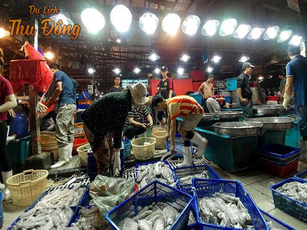 Khu chợ hải sản bạc liêu
