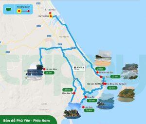 bạn dạng đồ tham quan du lịch Phú Yên – Phía Nam