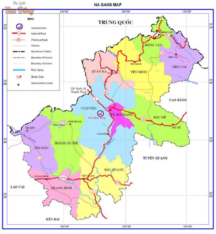 Bảng đồ giao thông Hà Giang