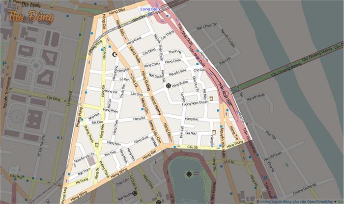 Bản đồ ranh giới khu phố cổ Hà Nội hiện nay