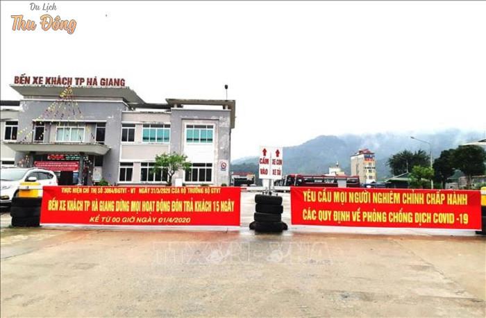 Các nhà xe từ Hà Nội chạy đi lên Hà Giang sẽ trả khách ở trong bến xe mới