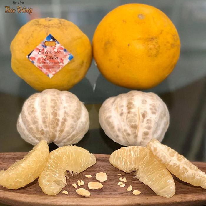Bưởi Diễn với màu vàng đẹp mắt mang đến hương vị ấn tượng