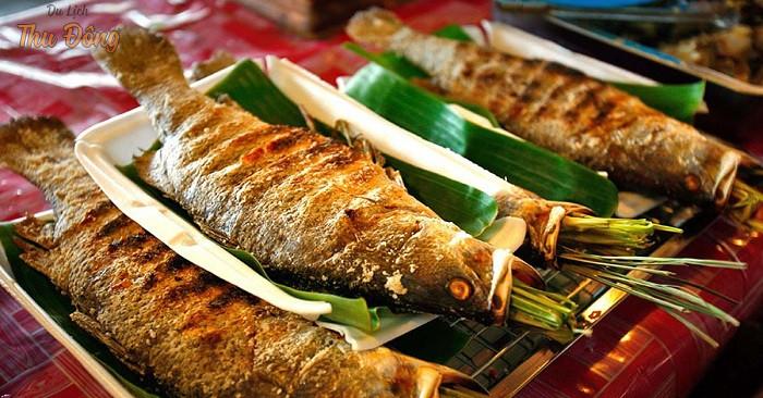 Đặc sản cá suối nướng