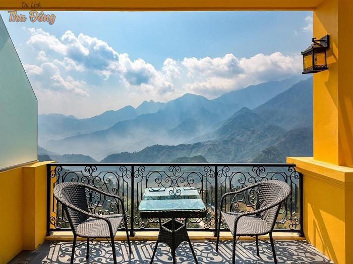Spa Aira Boutique Sapa có view hướng ra núi đẹp như tranh vẽ