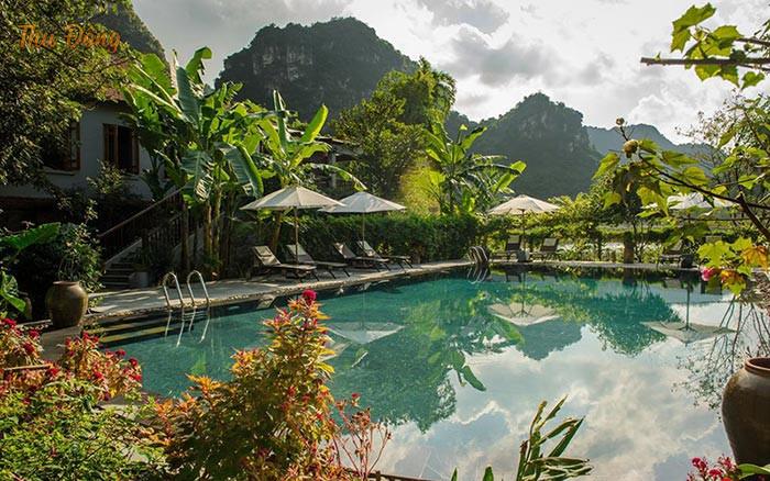 Khung cảnh khu nghỉ dưỡng Tam Coc Garden Resort