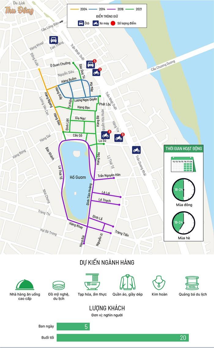Bản đồ biểu trưng các tuyến phố nằm trong diện quy hoạch